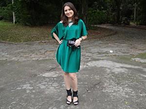 Para Tatiana, Rita usou o vestido 'coringa' (Foto: Malhação / TV Globo)