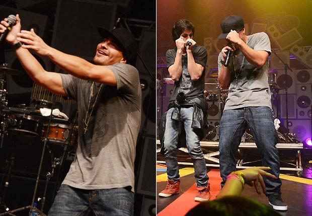 Fiuk e Thiago Martins dançam no palco (Foto: Ari Kaye/Divulgação)