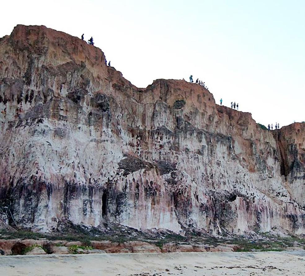 Falésias da praia da Pipa também são conhecidas como chapadões (Foto: Canindé Soares)