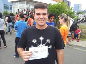 Jefferson Barbosa havia prestado o Enem pela última vez em 2009 (Foto: Marcello Carvalho)