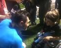 Denis dá luvas de presente a menino torcedor do ABC depois de empate