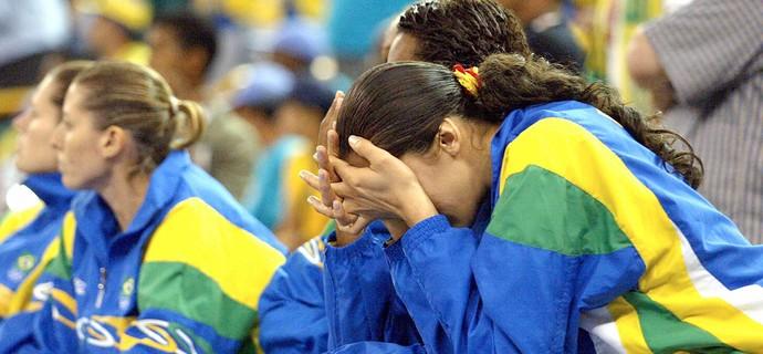 Brasil x EUA, basquete Panamericano Santo Domingo 2003 (Foto: Getty Images)