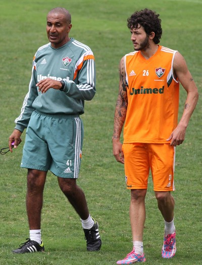 Fernando, Cristóvão, treino, Laranjeiras (Foto: Fernando Cazaes/Photocamera)
