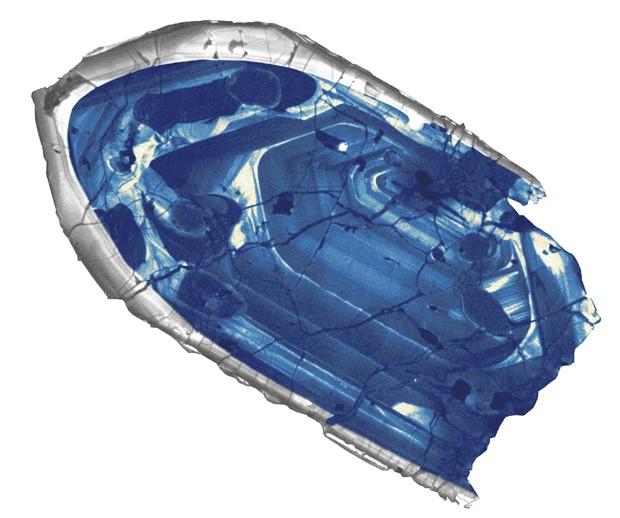 Cristal de zircão retirado da região de Jack Hills, na Austrália, tem 4,4 bilhões de anos   (Foto: Reuters/John W. Valley/University of Wisconsin-Madison)