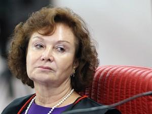 A ministra Nancy Andrighi, em sessão do TSE em fevereiro (Foto: Nelson Jr./ASICS/TSE)
