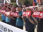 Sul-coreanos protestam em Seul por  melhores condições de trabalho