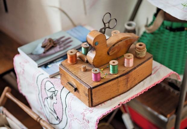 Caixa de costura em forma de pato (Foto: Lufe Gomes / Editora Globo)