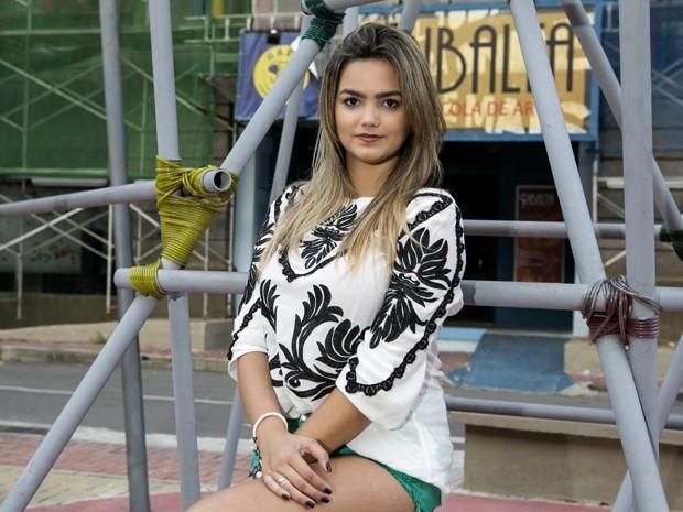 Suzanna Freitas mostra que sua beleza é de família (Foto: Inácio Moraes / Gshow)