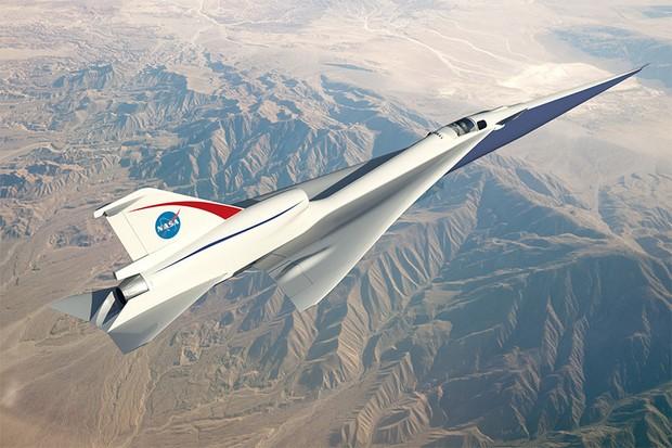 NASA divulga as imagens do novo jato supersônico (Foto: Reprodução)