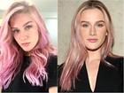 Colorista ensina a pintar os cabelos de rosa como Fiorella Mattheis