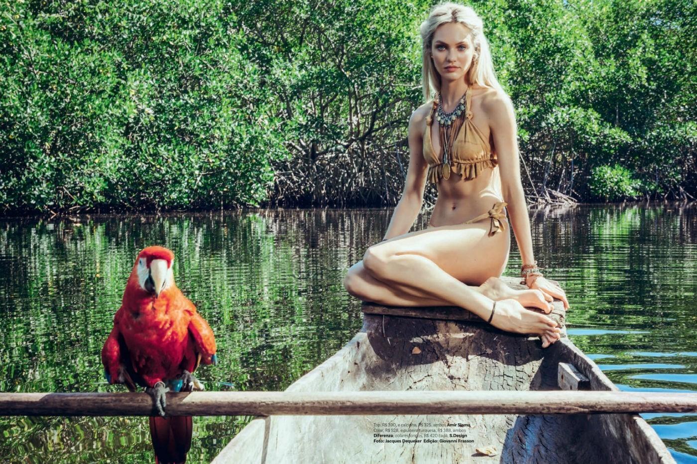 Candice Swanepoel na Vogue Brasil de janeiro de 2014  (Foto: Arquivo Vogue)