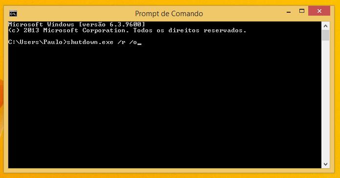 Insira o comando e dê Enter (Foto: Reprodução/Paulo Alves)