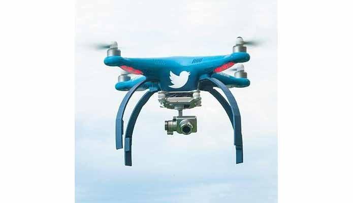 Drone do Twitter é estilizado e equipado com câmera (Foto: Divulgação/Twitter)