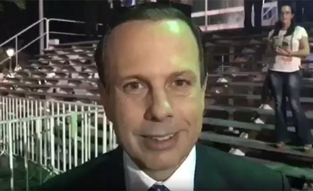Doria gravou vídeo comentando o ocorrido (Foto: Reprodução/Twitter)