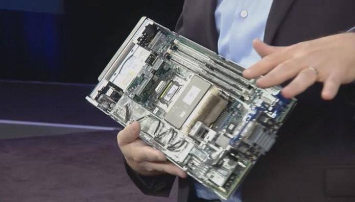 HP demonstrou o projeto de computador conhecido internamente como The Machine (Foto: Divulgação/HP).