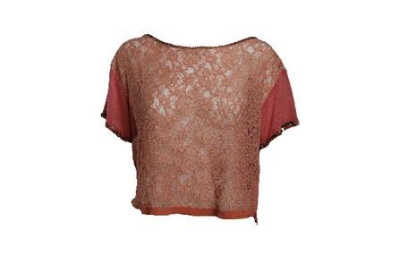 Blusa festa cropped renda terra cota da Espaço Fashion (R$ 249) Camilla Maia