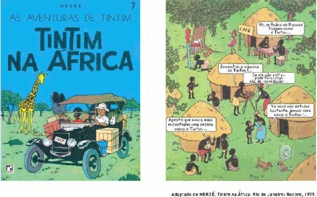 História em quadrinhos do Tintim (Foto: Reprodução/UERJ)