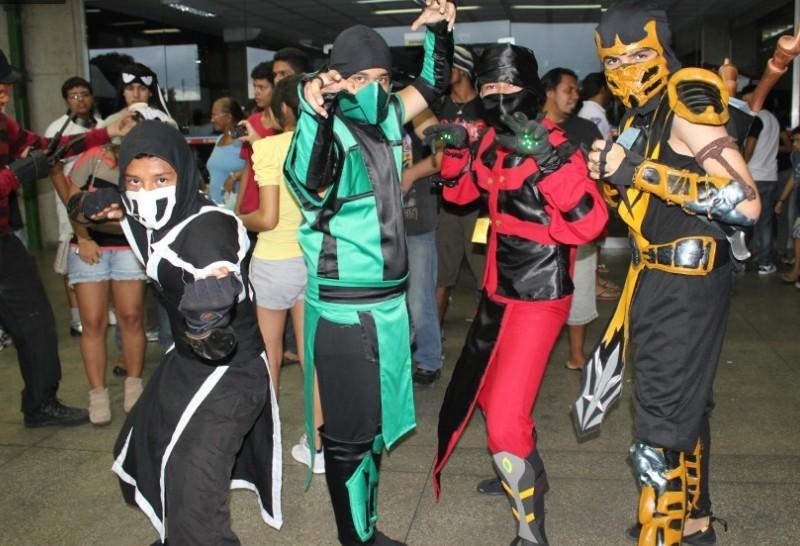 Cosplay de personagens famosos marcou a 3ª edição do Anime Jungle Party  (Foto: Ana Graziela Maia/ G1 AM)