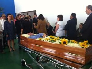 Fundador da Rede Sarah de hospitais, Aloysio Campos da Paz é velado na Asa Sul, no DF (Foto: Luciana Amaral/G1)