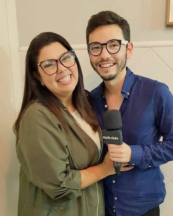 Ricky Hiraoka entrevista Fabiana Karla (Foto: Marie Claire)