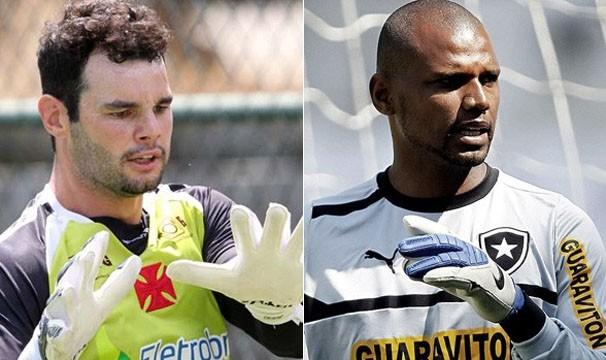 Os goleiros Alessandro, do Vasco, e Jefferson, do Botafogo, se enfrentam neste domingo (Foto: Reprodução: Globoesporte.com)