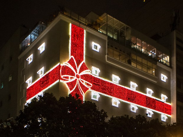 Luzes de LED são usadas em fachada de shopping na Zona Sul  (Foto: Divulgação/Botafogo Praia Shopping)