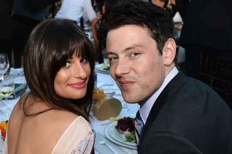 O casal Lea Michele e Cory Monteith, colegas em 'Glee' (Foto: Reprodução da internet)