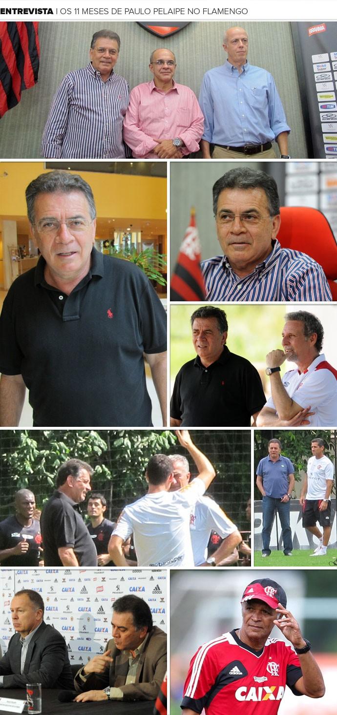 Mosaico Pelaipe Flamengo (Foto: Editoria de arte / Globoesporte.com)