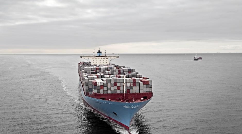 Navio da Maersk: empresa foi atacada (Foto: Divulgação)