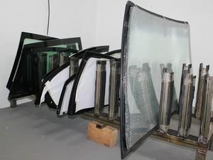 Vidros reforçados com o processo de blindagem