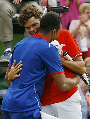 Jo-Wilfried Tsonga tênis Wimbledon Londres 2012 2r Milos Raonic (Foto: Reuters)
