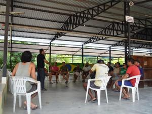A Casa do Pai atende 20 internos dependentes quimícos (Foto: Natacha Portal/ G1)