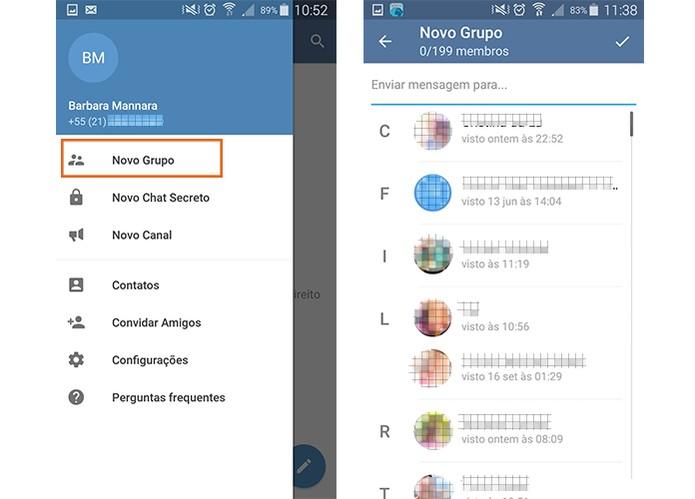 Junte os amigos em grupos no Telegram (Foto: Reprodução/Barbara Mannara)