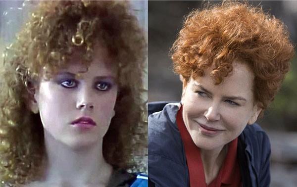 Nicole Kidman em 'Skin Deep' (1983) e 'Lion: Uma Jornada Para Casa' (2016) (Foto: Divulgação)
