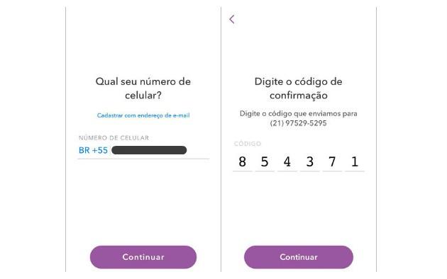 Como criar uma conta no Snapchat (Foto: Reprodução/Luana Marfim)