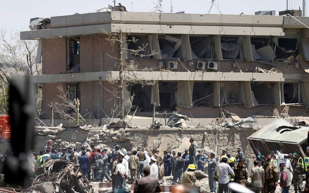 Prédio da Embaixada da Alemanha em Cabul (Foto: Mohammad Ismail / Reuters)