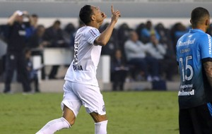 Ricardo Oliveira, Santos X Grêmio (Foto: Mauricio de Souza / Estadão Conteúdo)