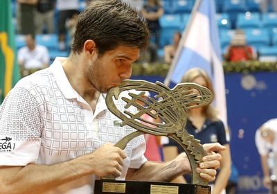 tênis federico delbonis troféu brasil open (Foto: Williams Lucas / Inovafoto)