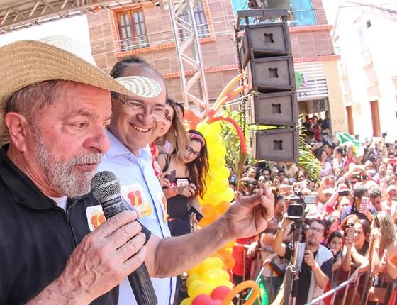 Lula durante comício em Crato (Foto: Ricardo Stuckert/ Instituto Lula)
