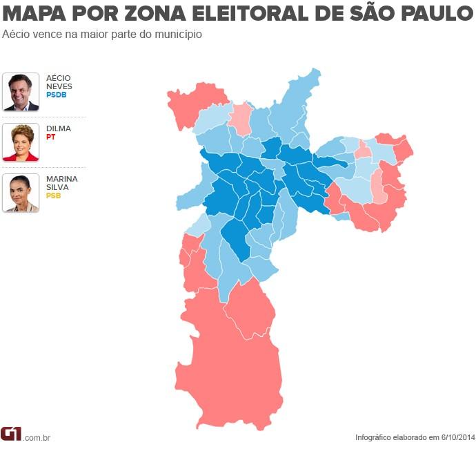 Mapa por zona - SP
