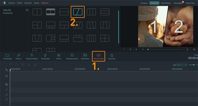 Escolha qual layout combina mais com o seu projeto (Foto: Reprodução)