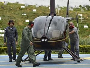 Governo do Espírito Santo analisa apropriação de helicóptero da família Perrella (Foto: Bernardo Coutinho/ Jornal A Gazeta)