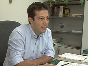 O ex-vereador de Americana, Alexandre Romano, durante entrevista à EPTV (Foto: Reprodução EPTV)