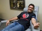 Junno participa de campanha de doação de sangue em São Paulo