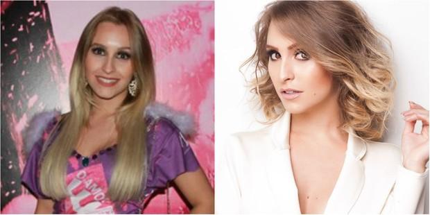 Antes e depois: Carla Diaz corta os cabelos e mostra visual moderno (Foto: Divulgação)