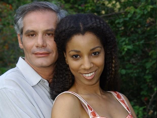 Nuno Melo e Adriana Lessa na novela 'Senhora do Destino' (Foto: Divulgação/TV Globo)