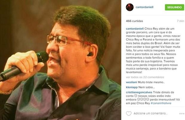 Daniel lamenta morte de Chico Rey (Foto: Instagram / Reprodução)