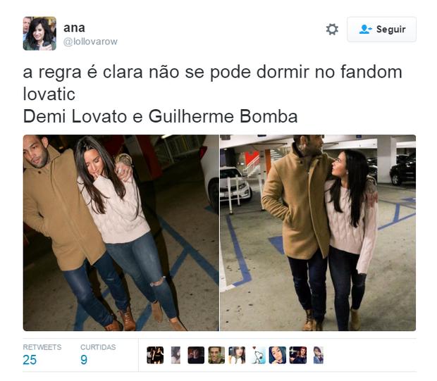 Fãs torcem por namoro entre Demi Lovato e atleta brasileiro  (Foto: Reprodução / Twitter)