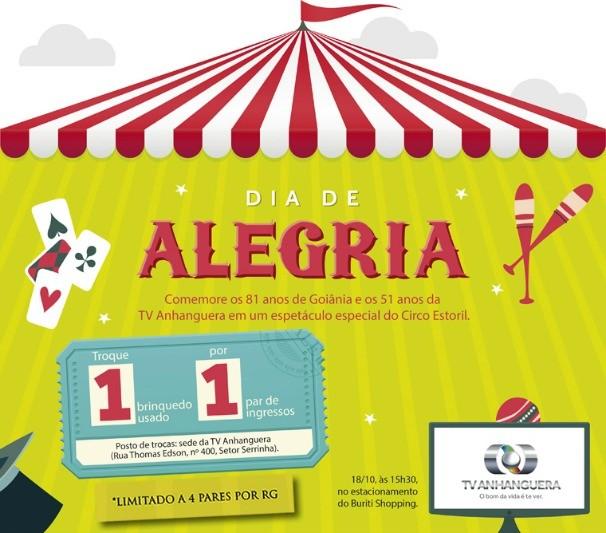 TV Anhanguera promove o Dia da Alegria no Circo Estoril (Foto: TV Anhanguera)