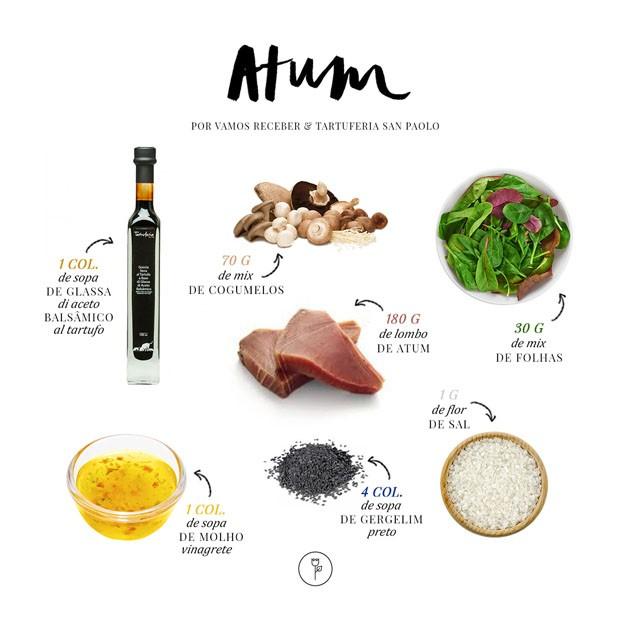 Aprenda a preparar atum selado com crosta de gergelim  (Foto: ARTE KAREN HOFSTETTER)